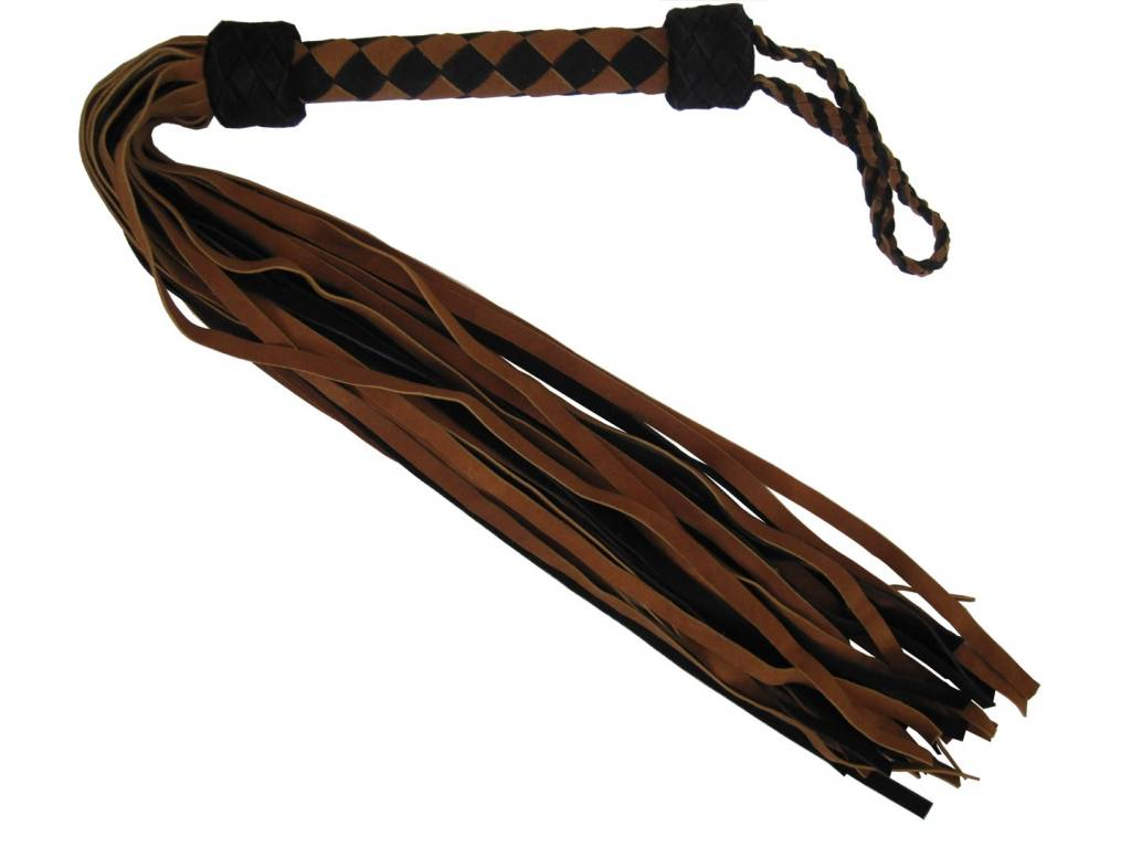 Suede Braided Handle Flogger