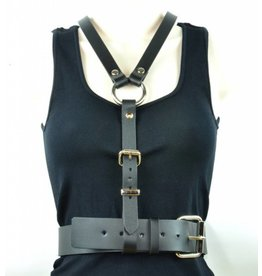 Leather Y and Waist Harness
