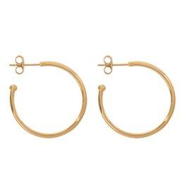 Nikki Lissoni 28mm Gold Plated Hoop Earrings