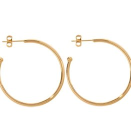 Nikki Lissoni 35mm Gold Plated Hoop Earrings