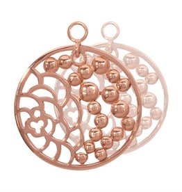 Nikki Lissoni China Garden' Rose  Gold Earring Coins