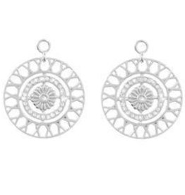 Nikki Lissoni Inner Power' Silver Earring Coins
