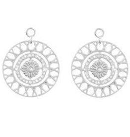 Nikki Lissoni Inner Power' Silver Earring Coins