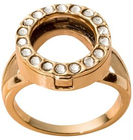Nikki Lissoni Interchangeable Coin Ring - Gold  Sz 7