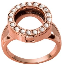 Nikki Lissoni Interchangeable Coin Ring - Rose Gold Sz 8