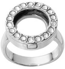 Nikki Lissoni Interchangeable Coin Ring - Silver Sz 7
