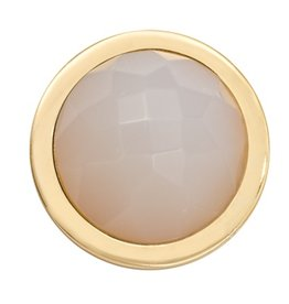 Nikki Lissoni Faceted White Agate' Gold Ring Coin