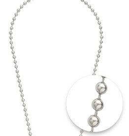"Nikki Lissoni Nikki Lissoni 24"" Silver Bead Necklace"