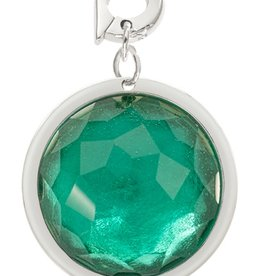 Nikki Lissoni Greenish Blue Optical Glass' 22mm Charm