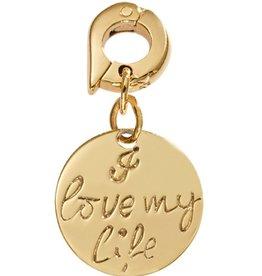 Nikki Lissoni 'I Love My Life' 15mm Gold Charm