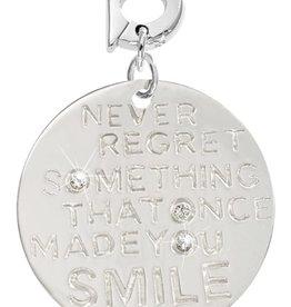 Nikki Lissoni Nikki Lissoni 'Never Regret...' 25mm Silver Charm