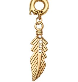 Nikki Lissoni 'Featherlight' 25mm Gold Charm