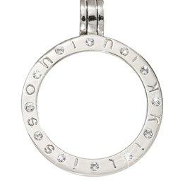 Nikki Lissoni Small Silver Swarovski Pendant