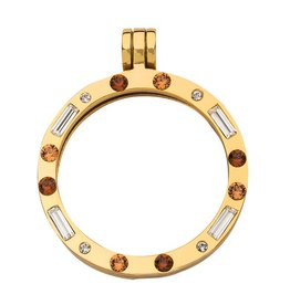 Nikki Lissoni Gold & Amber Swarovski Crystal Pendant