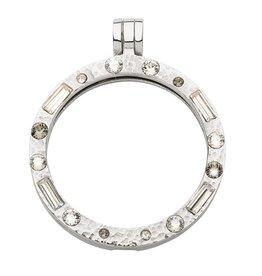 Nikki Lissoni Medium Silver Swarovski Crystal Pendant