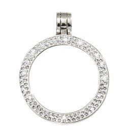 Nikki Lissoni Small Silver Pendant Encrusted in Swarovski Crystals