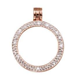 Nikki Lissoni Small Rose Gold Pendant with Swarovski Crystals