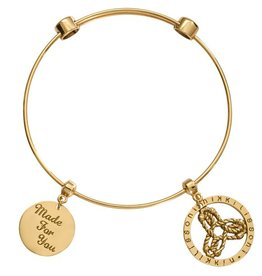 Nikki Lissoni Made for You' Gold Charm Bangle