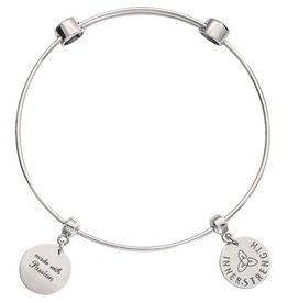 Nikki Lissoni 'Made with Passion' Silver Bangle