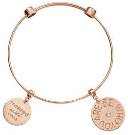 Nikki Lissoni 'Created with Care' Gold Bangle