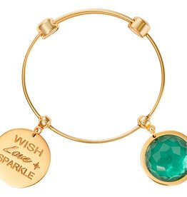 Nikki Lissoni 'Wish, Love, Sparkle' Gold Bangle