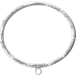 Nikki Lissoni 'Good Vibes' Silver Bangle