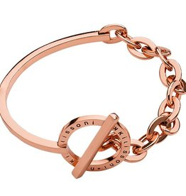 "Nikki Lissoni 7.5"" Rose Gold Bracelet/Bangle"