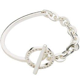 "Nikki Lissoni 7.5"" Silver Bracelet/Bangle"