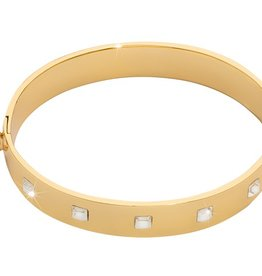 Nikki Lissoni Gold Charm Swarovski Bangle