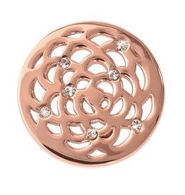 Nikki Lissoni Sunflower' Small Rose Gold Coin