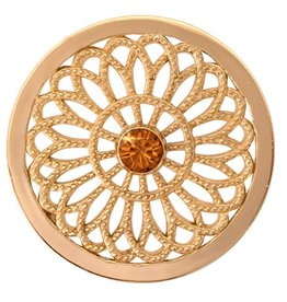 Nikki Lissoni 'Vintage Flower' Medium LE Gold Coin