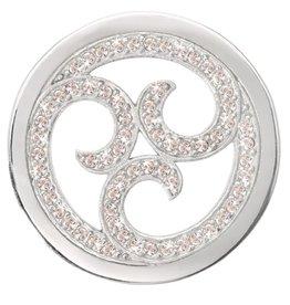 Nikki Lissoni 'Sparkling Curls' Silver Medium Coin