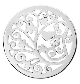 Nikki Lissoni 'Tree of Love' Medium Silver Coin