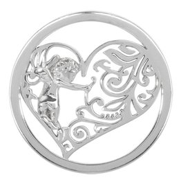 Nikki Lissoni 'Cupid's Heart' Small Silver Coin