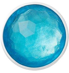 Nikki Lissoni 'Faceted Aqua Glass' Medium Silver Coin