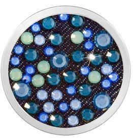 Nikki Lissoni 'Dodger Blue' Medium Silver Coin