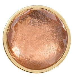 Nikki Lissoni Peach Brown 'Optical Glass' Small Gold Coin