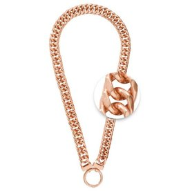 "Nikki Lissoni 20"" Rose Gold O-ring Necklace"