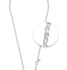 "Nikki Lissoni 36"" Silver Plated Belcher Necklace"