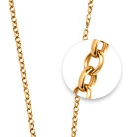 "Nikki Lissoni 27"" Gold Belcher Oval Necklace"