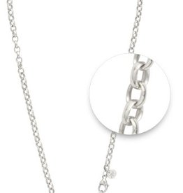 "Nikki Lissoni 18"" Silver Chain Necklace"