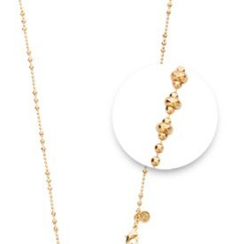 "Nikki Lissoni 32"" Gold Graduated Bead Necklace"