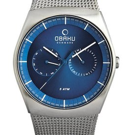 Obaku Watches Men's Obaku Jord - Cyan & Stainless Steel