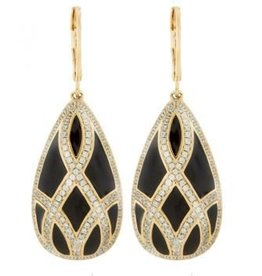 AHC Gold Infinity Teardrop Earrings