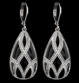 AHC Silver Infinity Teardrop Earring