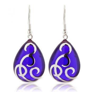 Ahc Purple Teardrop Ballgown Earrings