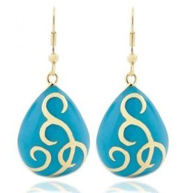 AHC Turquoise Teardrop Ballgown Earrings