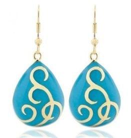 AHC Turquoise Teardrop Ballgown Earrings
