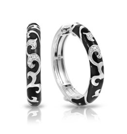 Belle Etoile Belle Étoile Royale Hoops Black & Sterling Silver