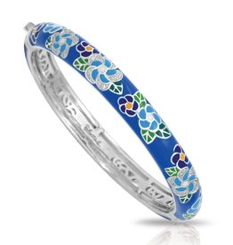 Belle Etoile Blue Melia Italian Enamel & Silver  Bangle